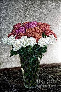 Decorative Digital Floral A1277 by Mas Art Studio