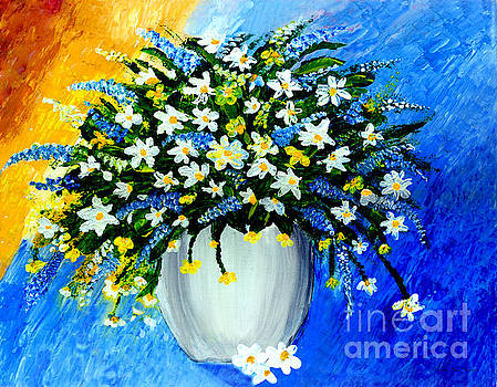 Decorative Floral Acrylic Painting G62017 by Mas Art Studio