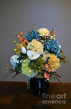 Decorative Floral Mixed Media B3117 by Mas Art Studio