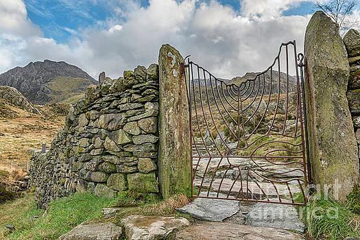 Decorative Gate Snowdonia by Adrian Evans