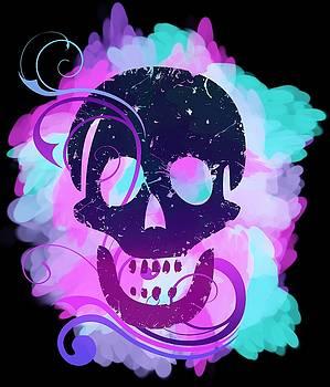 Decorative grunge skull by Playfulfoodie