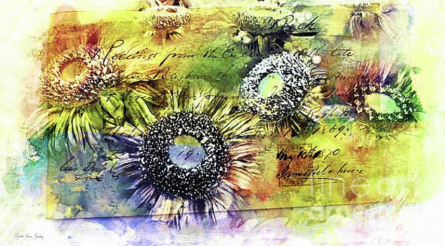 Decorative Sunflowers Mixed Media A772016  by Mas Art Studio