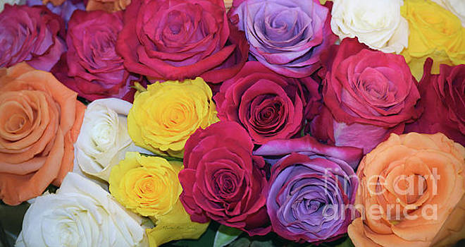 Decorative WallArt Brilliant Roses Photo B41217 by Mas Art Studio