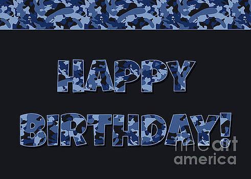 JH Designs - Deep Blue Camo Birthday