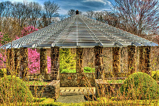 Deep Cut Gardens in Middletown, New Jersey spring gazebo close up series by Geraldine Scull