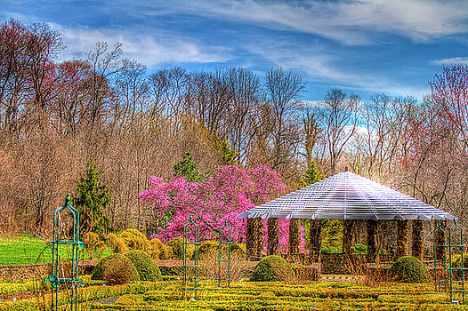 Deep Cuts Gardens in Middletown New Jersey spring gazebo series  by Geraldine Scull