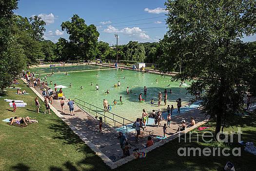 Herronstock Prints - Deep Eddy Pool is a family friendly, family fun, public swimming pool in Austin, Texas
