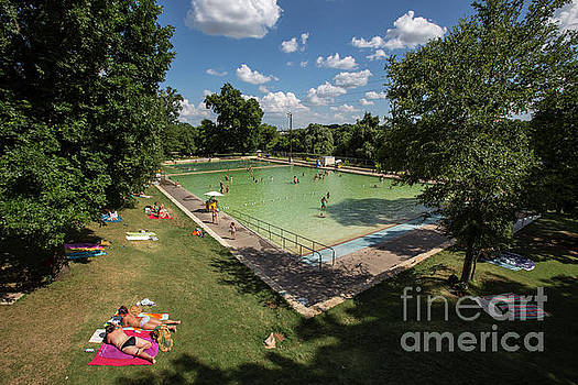 Herronstock Prints - Deep Eddy Pool is a hidden gem for sun tanning and a cool dip in the pool afterwards
