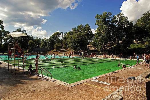 Herronstock Prints - Deep Eddy Pool offers an Olympic size swimming pool for swimming laps in Austin, Texas, USA