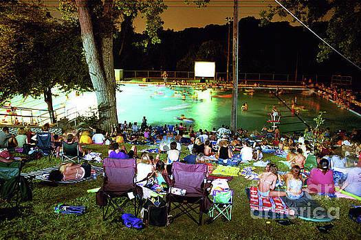Herronstock Prints - Deep Eddy Pool Splash Party Movie Night is a favorite Austin Fun Entertainment Activity, Austin, Texas, USA