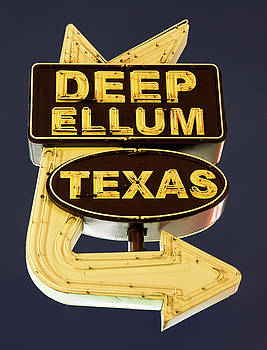 Deep Ellum Poster Blue 050318 by Rospotte Photography