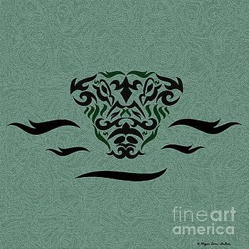 Deep Green Tribal Gator by Megan Dirsa-DuBois