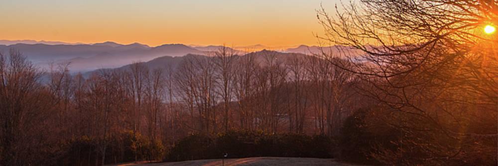 Deep Orange Sunrise by D K Wall