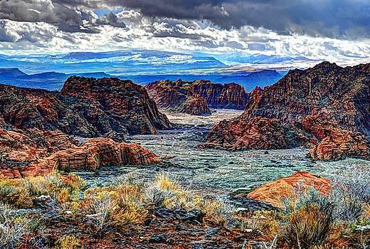 Deep Over Snow Canyon Utah by John Johnson
