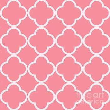 Deep Pink Quatrefoil Pattern by Nan Engen