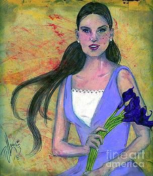 Deep Purple Lilies by PJ Lewis