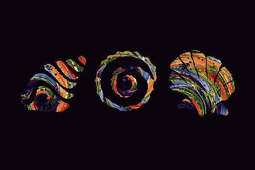 Deep Sea Shell Trio by Deborah Smith