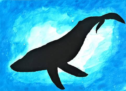 Deep Sea Whale Silhouette by Petros Illustrations