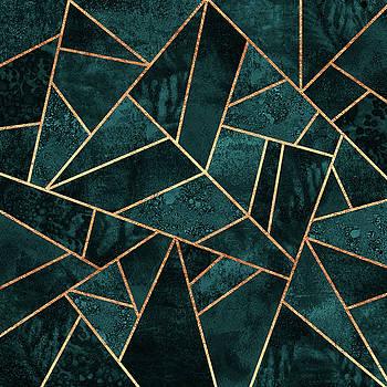 Deep Teal Stone by Elisabeth Fredriksson