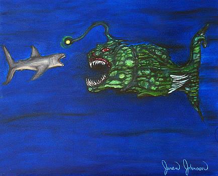 Deep Water Face Off by Jaren Johnson