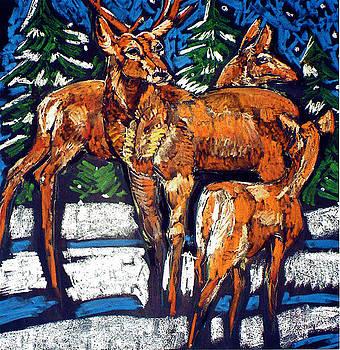 Doris  Lane Grey - Deer and Snow