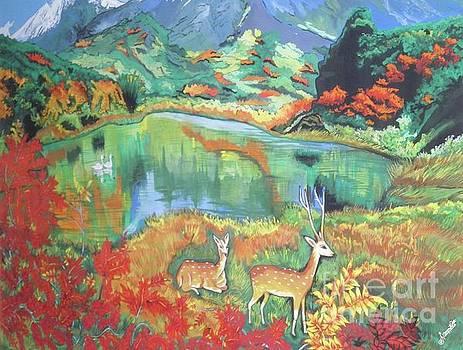 Deer by Artist Nandika Dutt