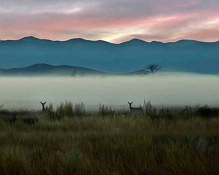 Deer at Dawn by Kenneth Eis