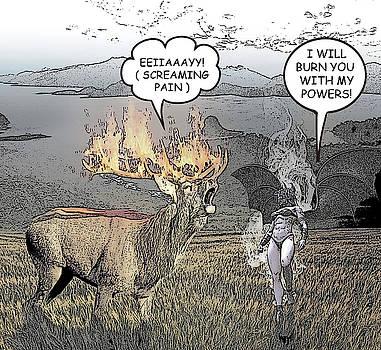 Deer Comic Illustration 1 by Solomon Barroa