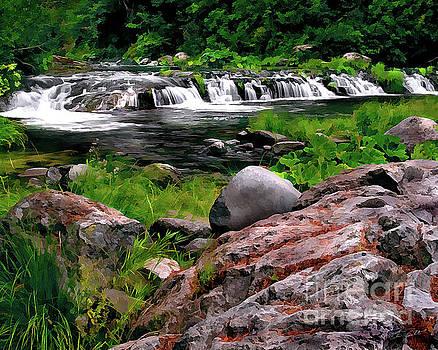 Peter Piatt - Deer Creek Upper Falls Painterly