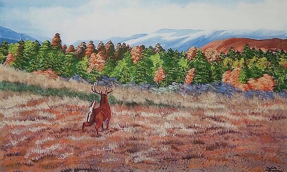 Charlotte Blanchard - Deer In Fall