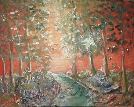 Deer in the wood  by M Bhatt