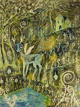 Deer Reflections by Julie Engelhardt