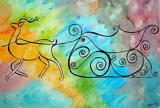 Deer Sleigh by Saran A N