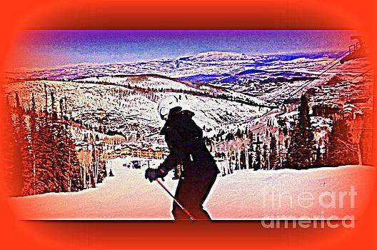 Deer Valley Utah Powder by Richard W Linford