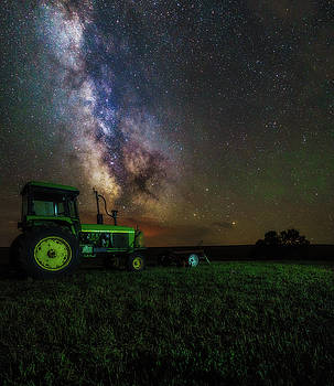 Deere And A Horse by Justin Schmidt