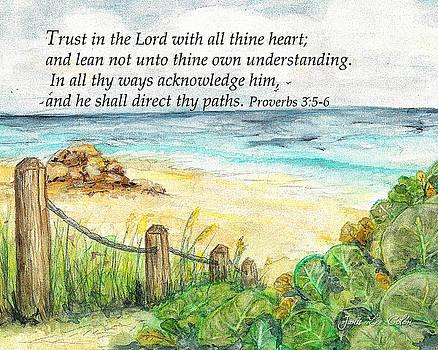 Deerfield Beach Sea Grapes Proverbs 3 by Janis Lee Colon