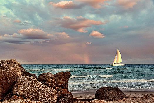 Deerfield Beach Seascape by Allan Einhorn