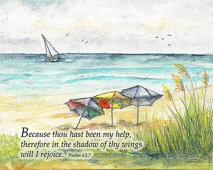 Deerfield Beach Umbrellas Psalm 63 by Janis Lee Colon