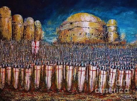 Defence of Jerusalem by Kaye Miller-Dewing