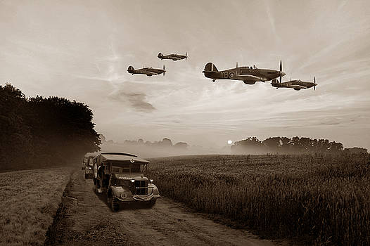 Defence Of The Realm - Sepia by Mark Donoghue