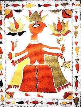 Deity painting, India by Barron Holland