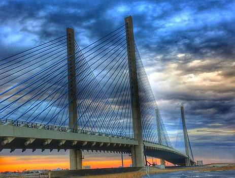 Delaware Bridge at Sunset by Sumoflam Photography