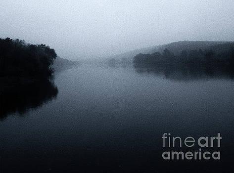 Delaware in Autumn Rain by John Castell