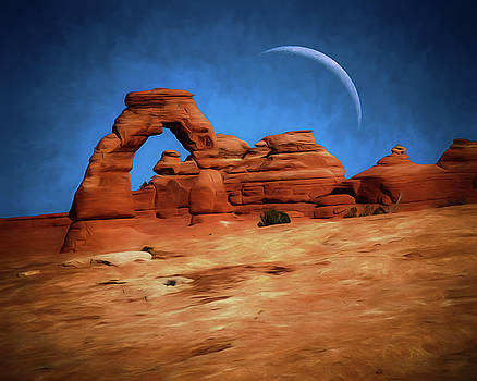 Mike Penney - Delicate Arch and Moon