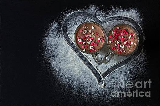 Delicious vanilla and chocolate pannacotta  by Victoria Kondysenko