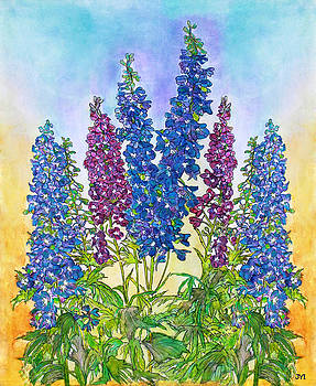 Delphinium Blue by Janet Immordino