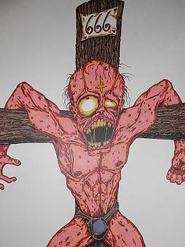 Demon Crucifix by Michael Toth
