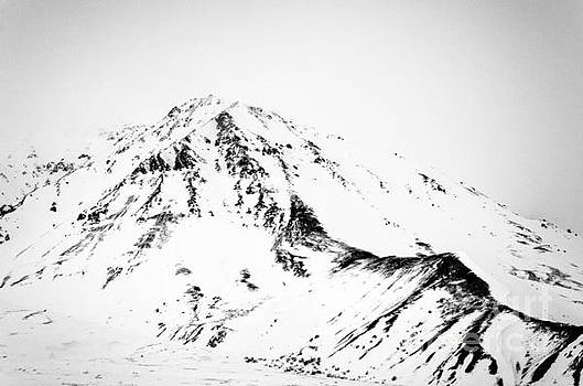 Denali - Chiseled Mountain BW by Mary Carol Story