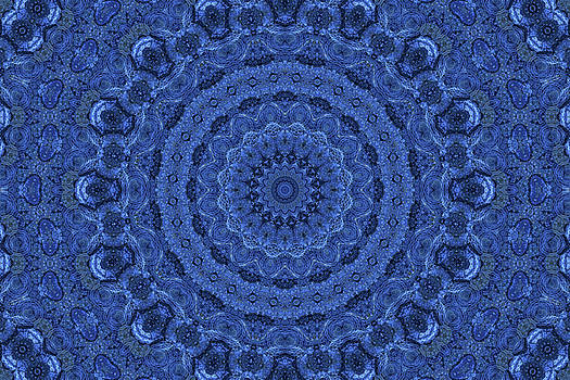Denim Mandala by Lynne Guimond Sabean