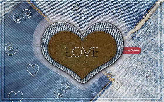 Denim Valentines Card by Scott Parker